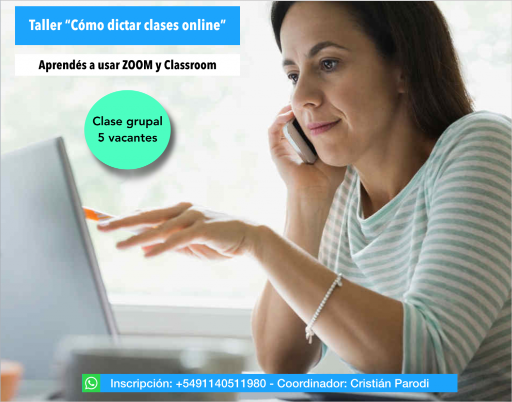 Taller cómo dictar clases online