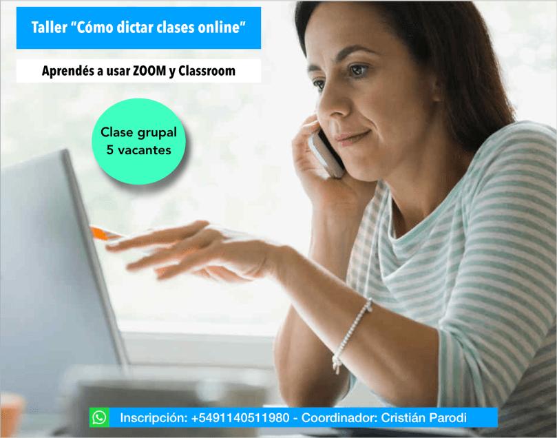 Cómo dictar clases online
