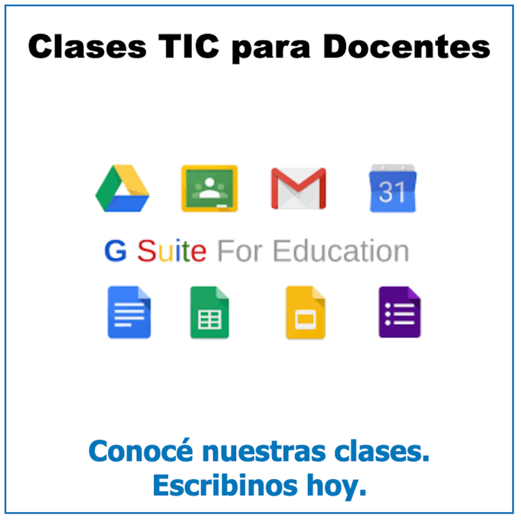 Clases TIC para docentes