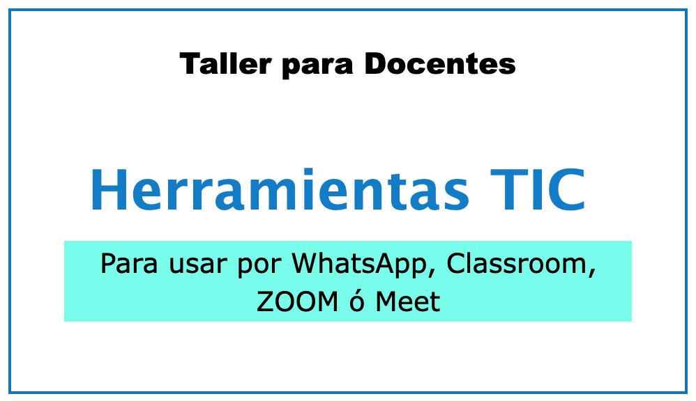 Herramientas TIC para clases online