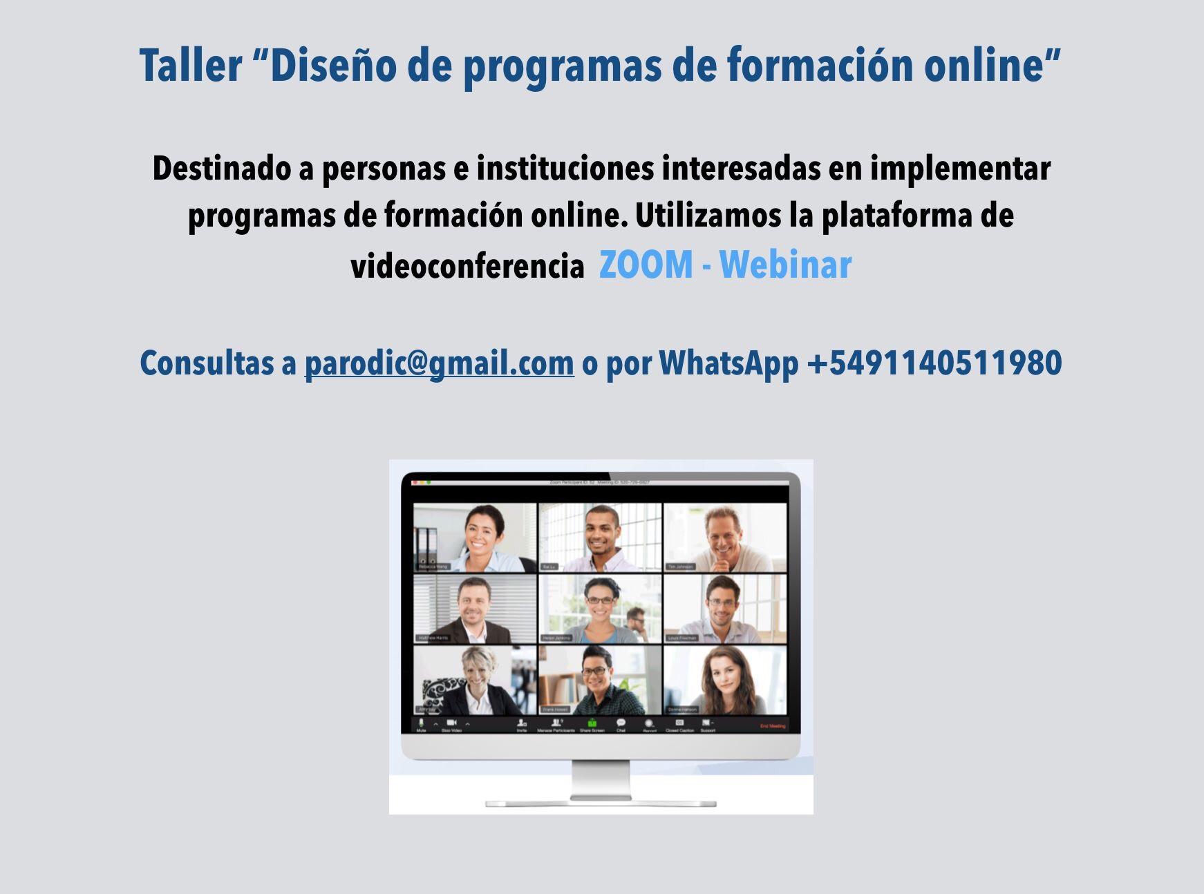 Diseño e implementación de talleres online